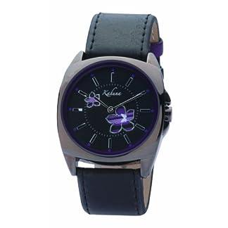 Kahuna KLS-0045L – Reloj analógico de mujer con correa negra – sumergible a 30 metros