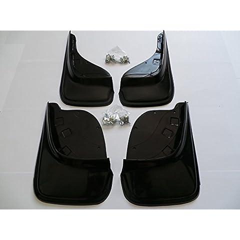 Faldones guardabarros negro - 4 piezas (delanteros+traseros), 100% goma , nuevo, universales Gumx159