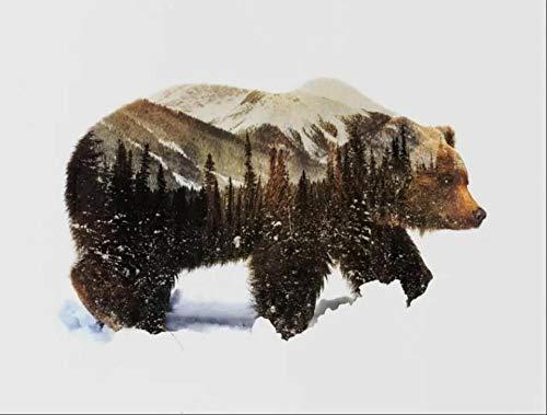 GDLATFD *Malen nach Zahlen- Tier Dschungel Bär DIY Dekoration malerei leinwand sicher und umweltfreundlich acrylfarbe, ölgemälde Set Wohnzimmer Kunst malerei Freunde und Familie Eltern(40x50 cm )