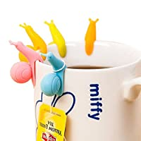 """LATH.PIN is registered trademark that belongs to """"9fox shop"""", we only take responsibility for the products which buy from our shop, please buy the real to protect your benefits! 6 holders for tea bags, snail-shaped, various colors. Pretty de..."""