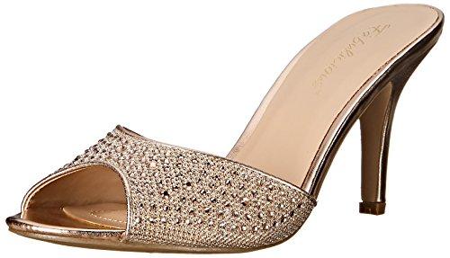 Gold Glitter Platform Sandal (Pleaser Lucy 01, Damen Pumps, Gold (Gold Glitter Mesh Fabric), 40 EU ( 7 UK))