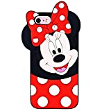 Leosimple - Coque Minnie pour iPhone, Silicone, iPhone 8/7/6/6s Minnie, iPhone 8/7/6/6s