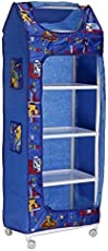 Shivay 5 to 6 Layer Styles Fancy & Portable Wardrobe Cabinet for Multipurpose (Best for kids too) Clothes Closet Portable Wardrobe Storage Organizer with Shelves Folding Wardrobe Cupboard Almirah Fold-able Storage Rack Collapsible Cabinet in Multicolor (Color May Vary as Availability )