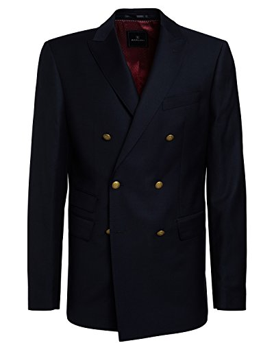 BARUTTI Sakko Taziano Super 150 S, Regular Tailored Fit navy in 98 (Tailored Zwei-knopf-anzug)
