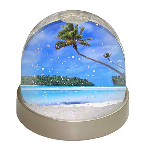 Advanta Group Tropical Paradise Beach Snow Dome Globe Waterball Gift, Multi-Colour, 9.2 x 9.2 x 8 cm