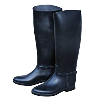 Amesbichler Women's Riding Boots PVC Riding Boots/Riding Boots With Spur Rest Size:4