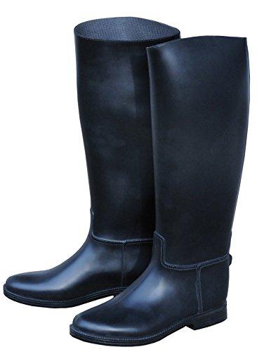 AMKA Reitstiefel | Reiter Stiefel für Damen Reitstiefel mit Sporenhalterung Fußeinlagesohle aus Kunststoff genaue Maße…