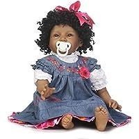 Comparador de precios JullyeleESgant 55 CM Afroamerikaner Schwarz Silikon Haut Reborn Baby Puppe Spielzeug Nette Mode Realistisches Lächeln Baby Puppe Geschenk für Kinder - precios baratos