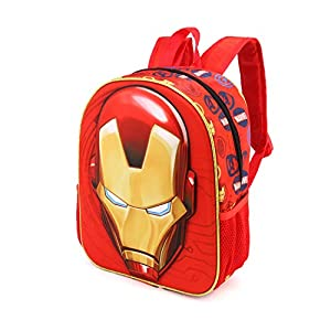 41fnWFAdt7L. SS300  - Karactermania Iron Man Armour-3D Rucksack (Klein) Mochila Infantil 31 Centimeters 8.5 Rojo (Red)