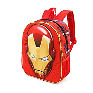 Karactermania Iron Man Armour-3D Rucksack (Klein) Mochila Infantil 31 Centimeters 8.5 Rojo (Red)
