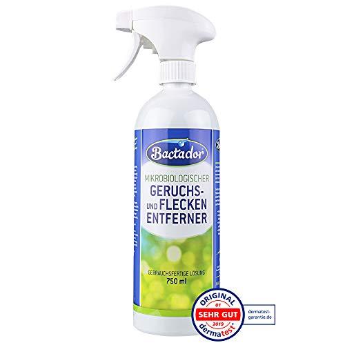 Bactador Spray 750 ml | Geruchsentferner und Fleckenentferner | Biologischer Reiniger | Gebrauchsfertige Lösung