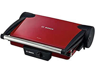 Bosch TFB4402V Kontaktgrill (1800 W, 3 Grillpositionen, stufenlos regulierbarer Thermostat), rot / anthrazit von Bosch