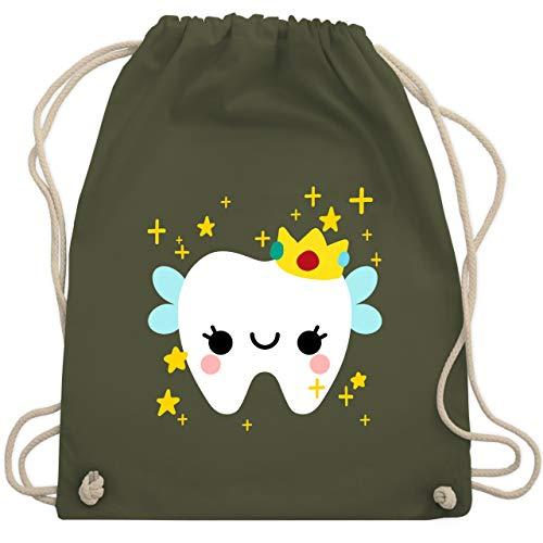 Zahnfee Kind Kostüm - Karneval & Fasching Kinder - Süßes Zahnfee Kostüm - Unisize - Olivgrün - WM110 - Turnbeutel & Gym Bag