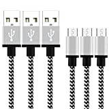 Cable Micro USB Yosou Cargador Android 2M [3-Unidades] Cable USB de Nylon Cable USB Micro USB para Dispositivos Android, Samsung Galaxy S7/S6/S5, Sony, Huawei, HTC, Nexus, LG, Kindle y más