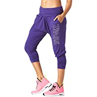 Zumba Fitness Party in da Basement Harem Capris, Pantaloni Donna, Blue and You, M