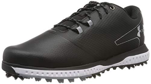 Under Armour Men's Fade RST 2 E Golf Shoes, Black/Steel/Metallic Silver 001, 10 (45 EU)