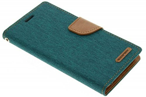 BRK Mercury Nosson Fancy Canvas Diary Wallet Flip Cover Case for Vivo V3 Max - Green