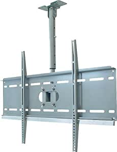 My Wall HP3L Deckenhalterung für Flachbildschirme VESA Monitor 94 cm (37 Zoll) bis 160 cm (63 Zoll) (Belastbarkeit 80kg) silber