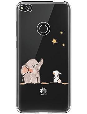 vanki Custodia Huawei P8 Lite 2017, Huawei P8 Lite 2017 Cover Case Morbida di TPU Silikon Cristallo Trasparente...