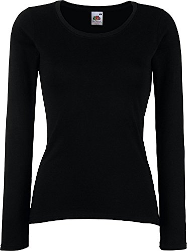 New Lady-Fit Valueweight Long Sleeve Crew Neck Tee T-Shirt Freizeit Shirt Feminine Fit (Crew Long Tee Neck Sleeve)