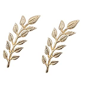 Baoblaze Blätter Form Stil Brosche Pins Sicherheitsnadel für Damen Schal Mantel Deko
