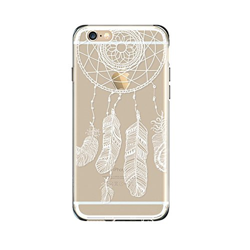 "Jinberry Totem Trasparente Custodia Protettiva in TPU Morbida per iPhone 7 Plus (5.5"") Sottile Crystal Silicone Case Back Cover per Apple iPhone 7 Plus - Acchiappasogni"