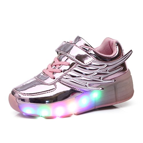 Viken Azer-UK Automática Ruedas Ajustables LED Zapatillas con Luces Ruedas Color Deporte...