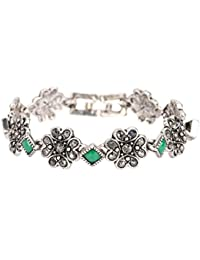 Shining Diva Fashion Oxidized Silver Jewellery Bracelet for Girls & Women Jewelry(Silver)(8659b)