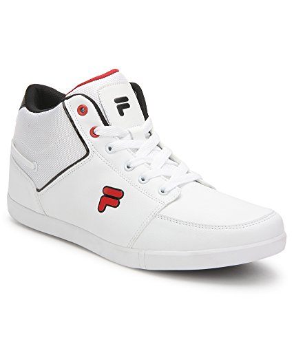 FILA MEN WHITE ANKLE LENGTH SNEAKERS BARDO (9)  available at amazon for Rs.2399