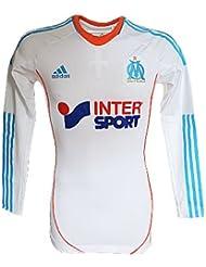 adidas Performance-Maillot Match OM Olympique de Marseille Techfit ML Blanc X50015