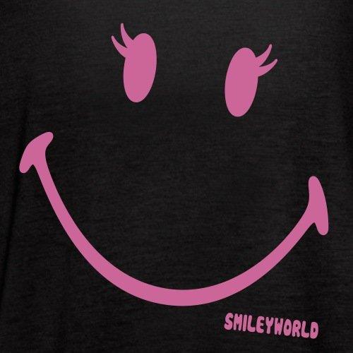Smiley World Paillettes Souriant Fille Débardeur Femme marque Bella de Spreadshirt® Noir