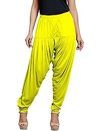 Goodtry Women's patiyala Free Size-Dark Yellow