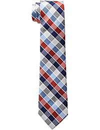 Haggar Men's Big-Tall Grid Extra Long Tie