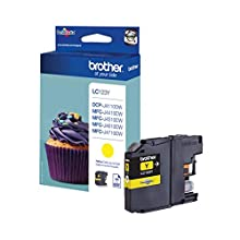 Brother LC123Y Inkjet Cartridge, Standard Yield, Yellow, Brother Genuine Supplies