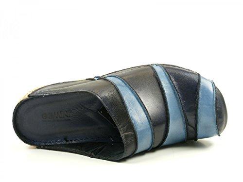 Gemini 32091-01 Schuhe Damen Pantoletten Clogs Sabot Blau