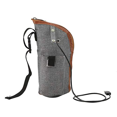 Sac Chauffe-Lait - USB Chauffage Portable Voyage Tasse Lait Chaud Chauffe-Biberon Biberon Sac de Rangement pour Nourrissons