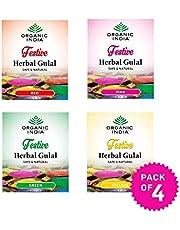 ORGANIC INDIA Herbal Colour Holi Gulal Pack