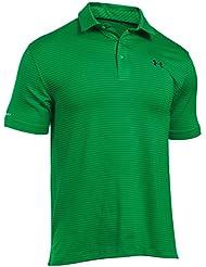 Under Armour 2016 Coldblack Tee Time Performance Streifen Herren Golf Polo Hemd