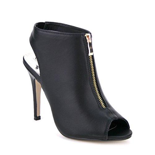 Cendriyon, Low Sandale simili cuir Noir LIAKA Chaussures Femme Noir