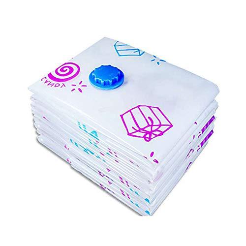 YOHAPPY - Bolsa de Almacenamiento para aspiradora con diseño de Flores, Plegable, Extragrande, comprimida, para Ahorrar Espacio, Blanco, 50X70