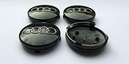 Radkappen-Set für Alufelgen, 60mm, 4 Stück, schwarz