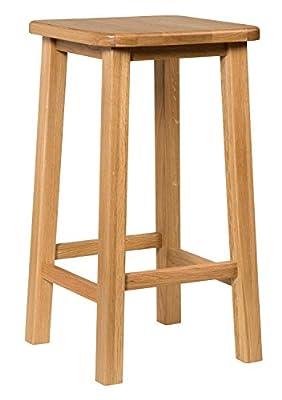 Waverly Oak Breakfast Bar Stool in Light Oak Finish | Solid Wooden Stool | Dining Chair - low-cost UK light shop.