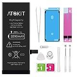 Akku für iPhone 6s 2200mAh, Atokit hohe Kapazität mit 29% mehr Polymer-Lithium-Batterie, Ersatz Austausch mit Werkzeug Set, Screen Adhesive, Klebestreifen