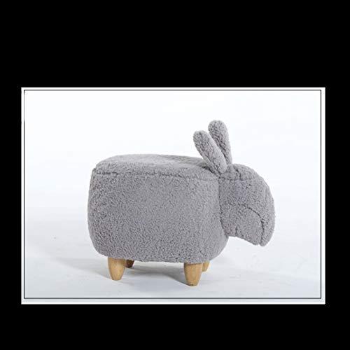 LRZS-Furniture Kreative Schuhhocker Kaninchen Tragen Schuhhocker Moderne Einfache Lagerung Hocker Hocker Kaninchen Test Hocker Sofa Hocker (Color : Gray)