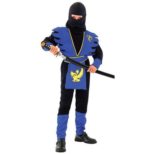 Ninja Kämpfer Verkleidung für Jungen Karneval Fasching Halloween Party Kostüm (Assassin Ninja Halloween Kostüm)
