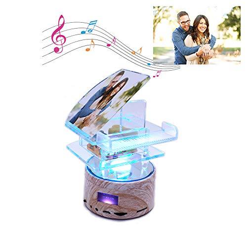 hjsadgasd Personalisierte 3D Crystal Piano Ball Music Box LED Licht Licht Nacht Licht Geburtstag Weihnachten - Led Crystal Ball