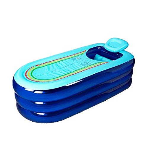 LZMXYG Baignoire Gonflable Adulte Épaississement Bain Bain Mu Barrel Bain Pliant Baignoire Pliante Enfants Piscine (Couleur : Bleu)