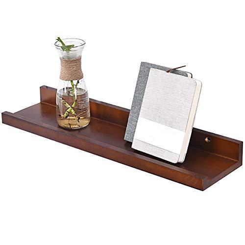 WENYUAN Schwimmendes Regal U-förmige Wandhalterung aus Holz als Dekorationsständer für Haushaltsgeräte (Size : 60x15x6cm) -
