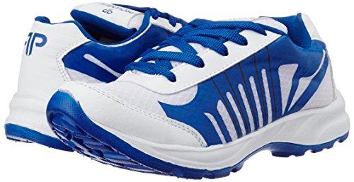 Provogue Men's White and Blue Running Shoes - 8 UK/India (42 EU)(9 US)