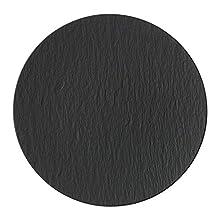 Villeroy & Boch Manufacture Rock Pizza Plate, Premium Porcelain, Schwarz/Grey, 32 cm